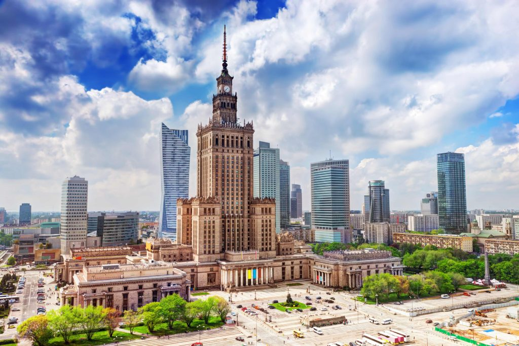 Varsovia - Palatul culturii si stiintei